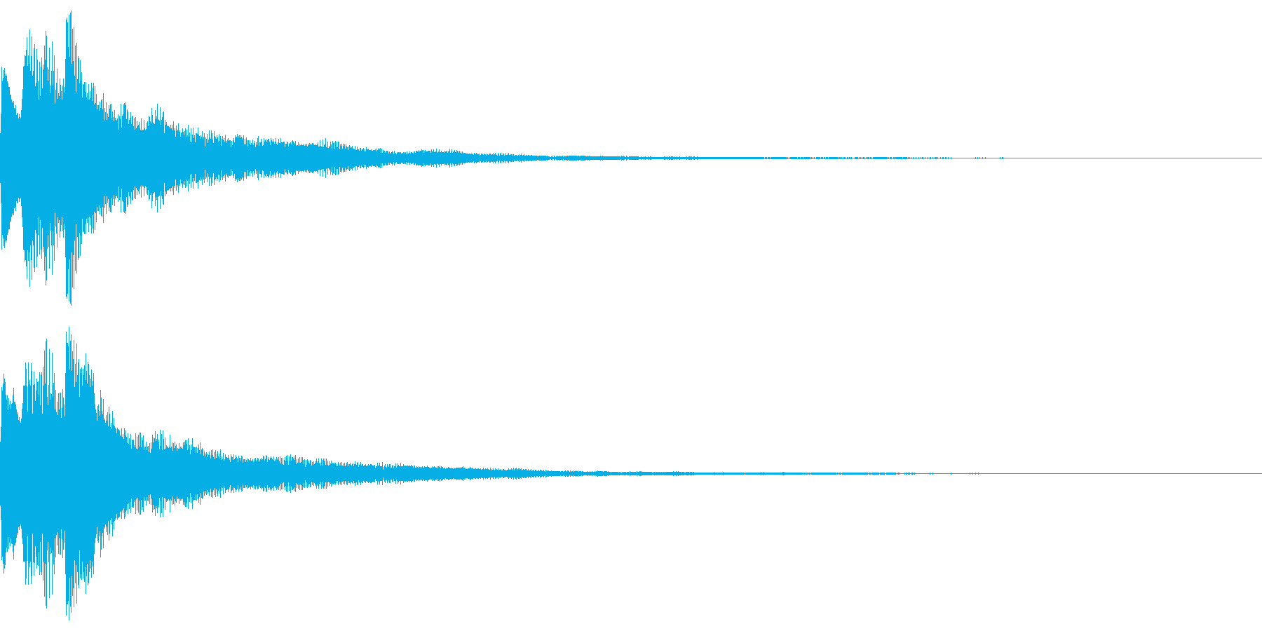 キラキラ キランなアタック音5-2の再生済みの波形