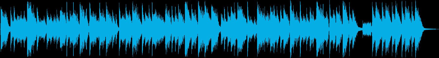 未来的なフュージョンテクノジングルの再生済みの波形