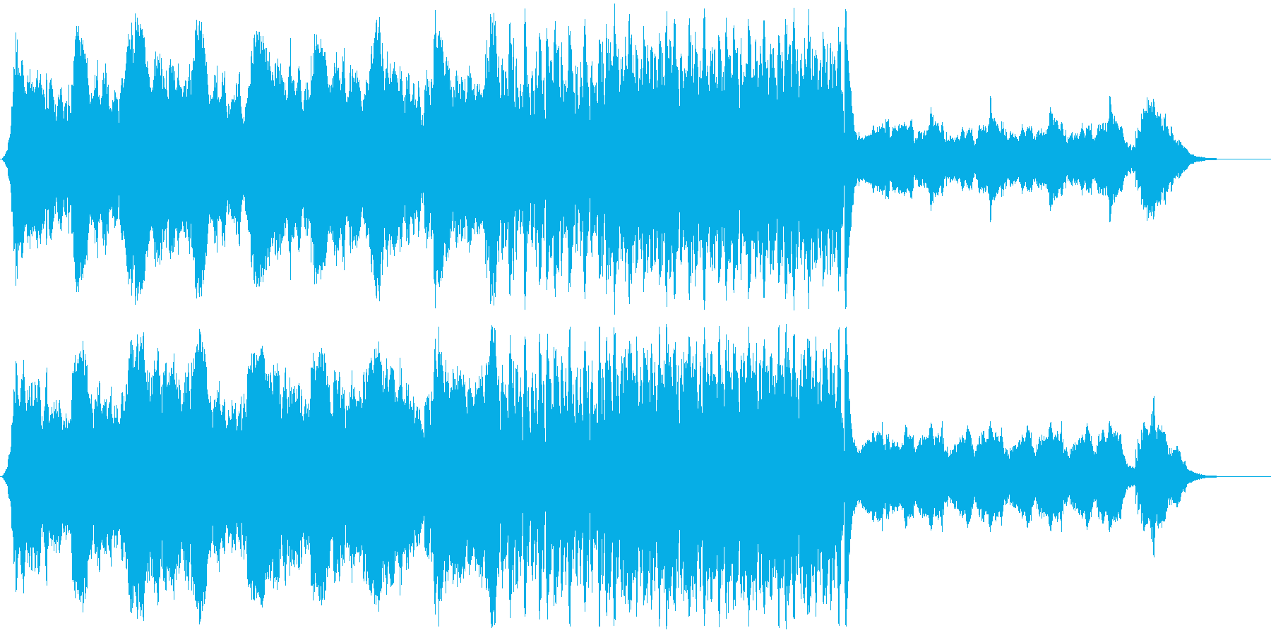 重くて激しめなボス系BGMの再生済みの波形