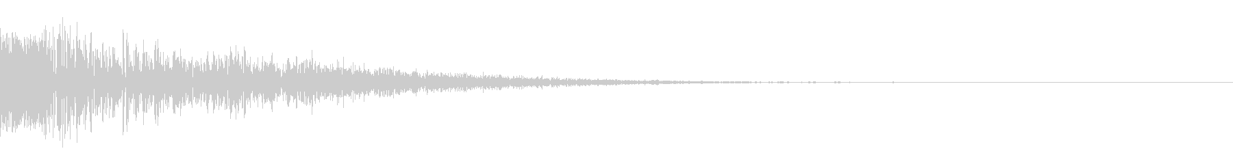 ドシュッ(斬撃/重い/強攻撃)の未再生の波形