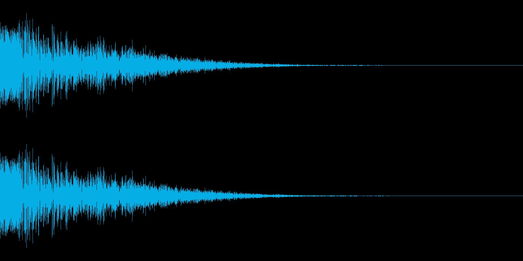 ドシュッ(斬撃/重い/強攻撃)の再生済みの波形