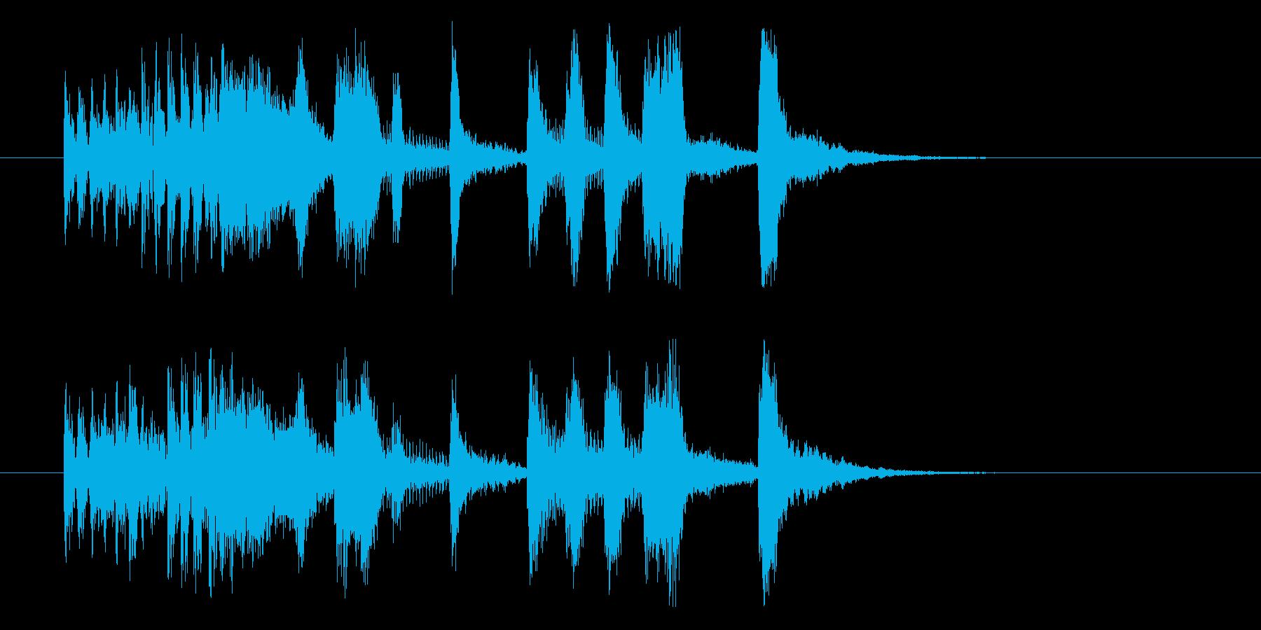 しなやかでクールなシンセジングルの再生済みの波形