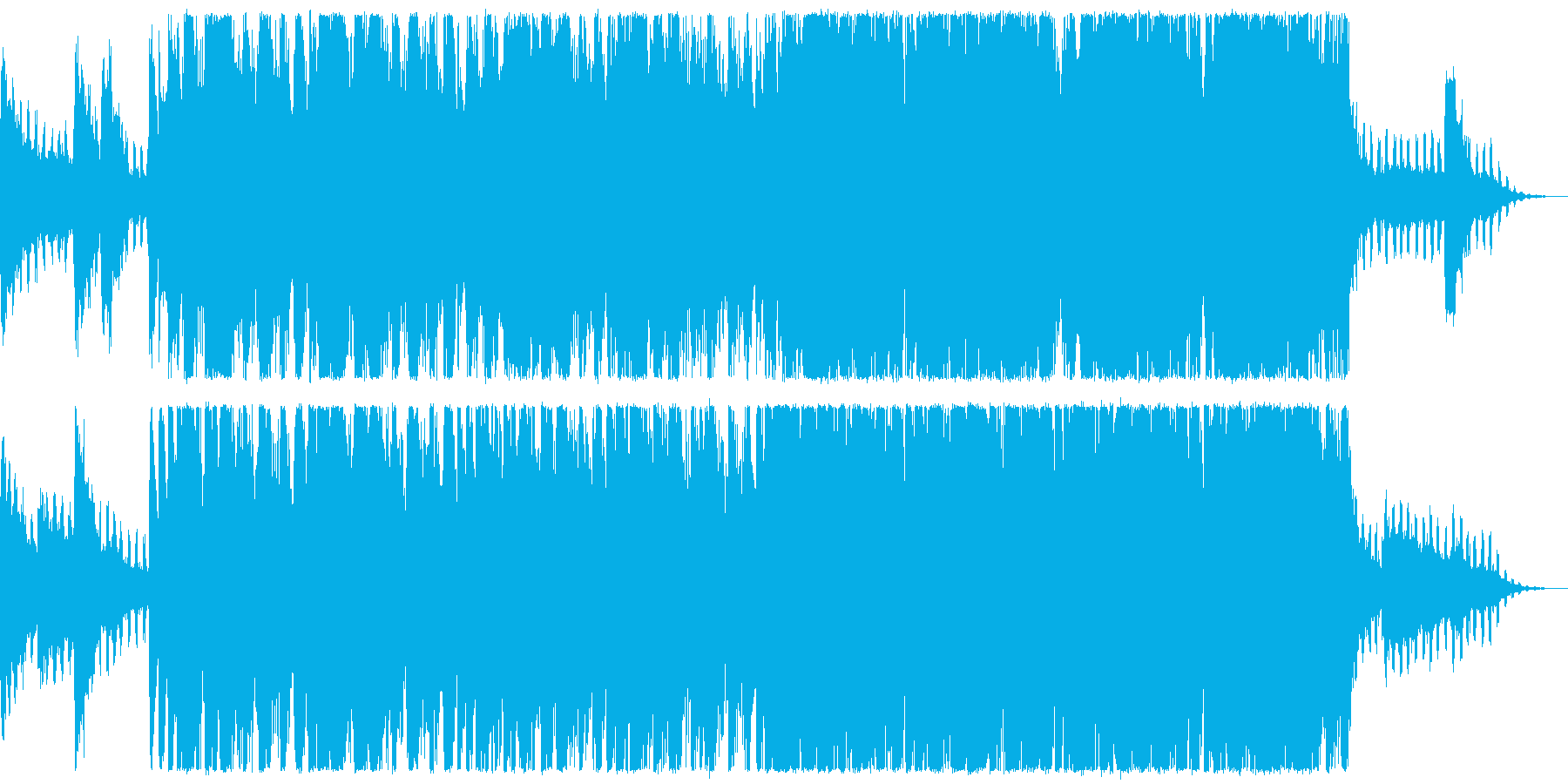 ハロウィン、ホラー系メロディー:SE付きの再生済みの波形