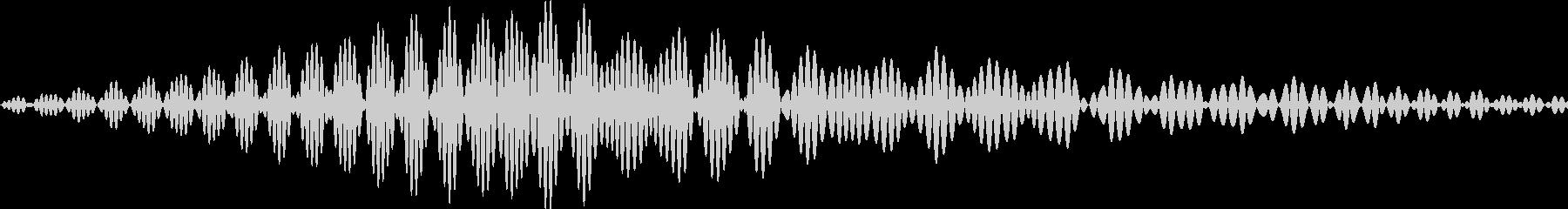 アプリのタッチ音にの未再生の波形
