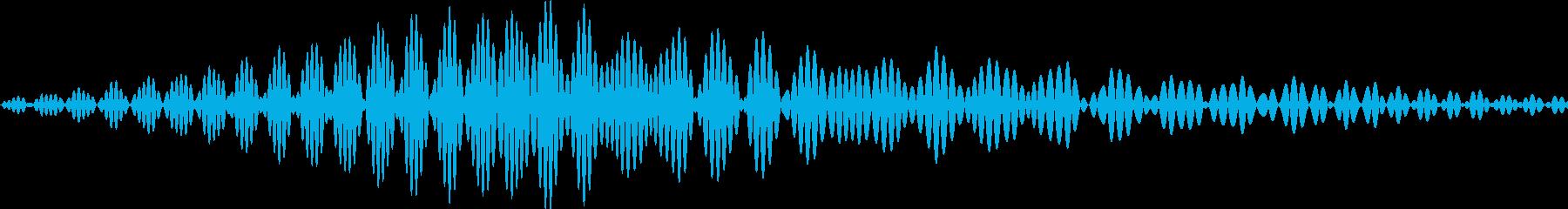 アプリのタッチ音にの再生済みの波形