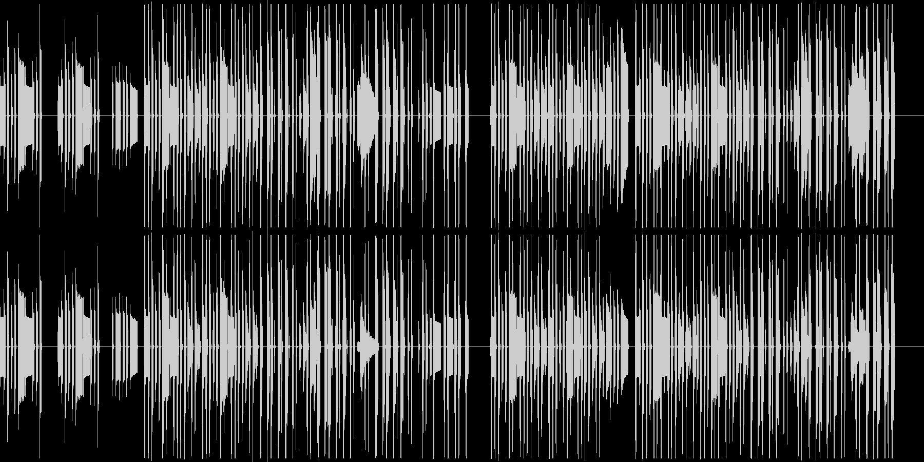 のんびりほのぼの日常系のBGMの未再生の波形