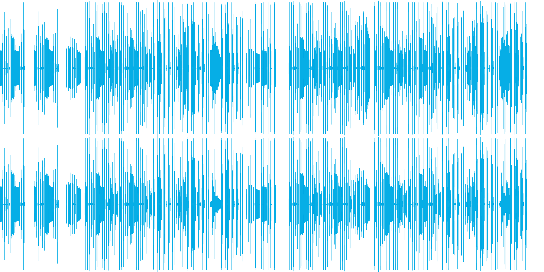のんびりほのぼの日常系のBGMの再生済みの波形