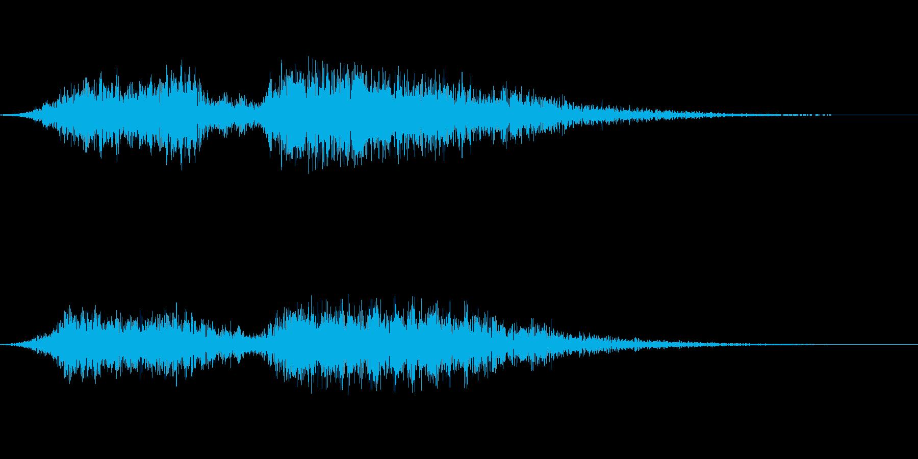 和風掛け声「よいやっさー」(男女複数)の再生済みの波形