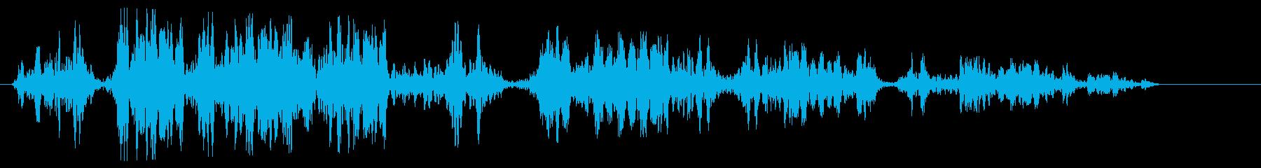 ピュルピュル(何かが巻戻るような音)の再生済みの波形