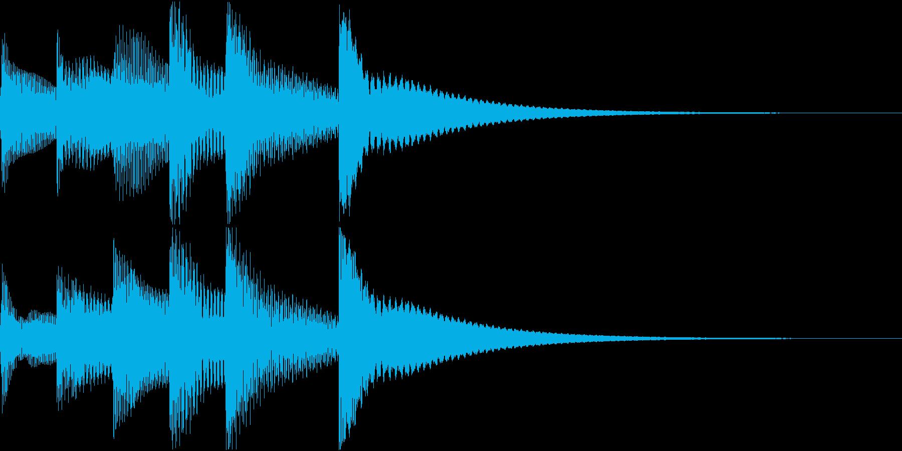 シンプルベル お知らせ ハテナ ? 25の再生済みの波形