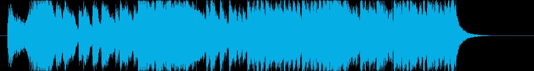 クリスマスの派手なオープニングジングルの再生済みの波形