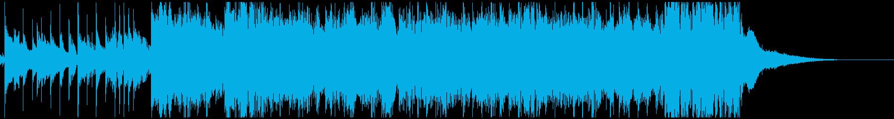 アラビアンな笛のメロディと怪しいシタールの再生済みの波形