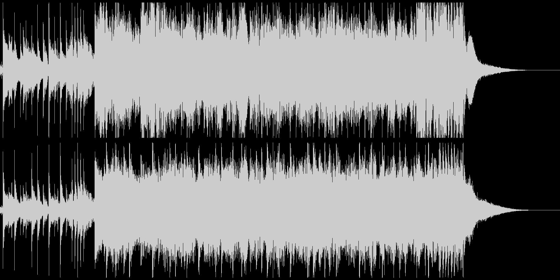 アラビアンな笛のメロディと怪しいシタールの未再生の波形
