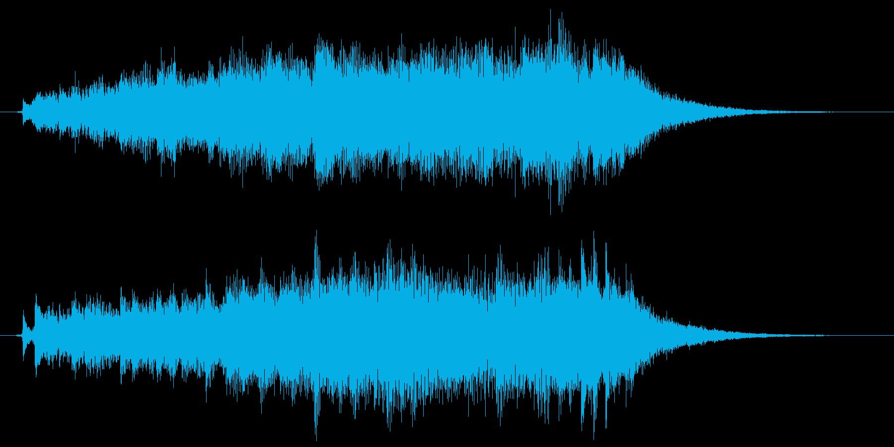 ピアノとストリングスの爽やかサウンドロゴの再生済みの波形