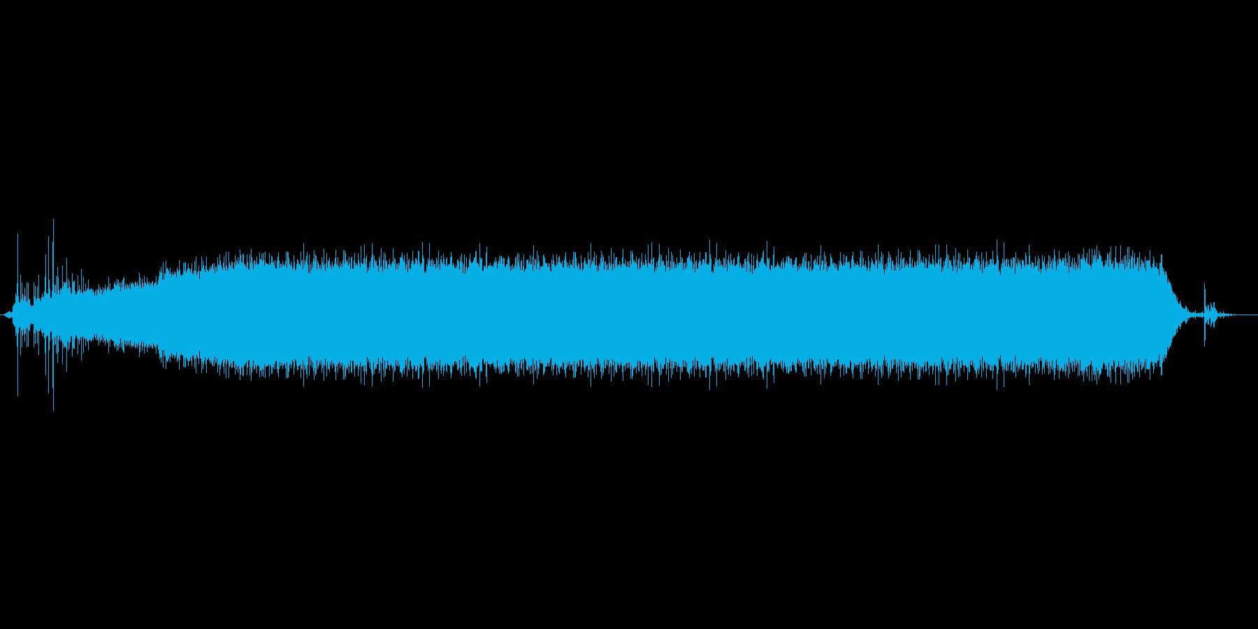 シャワー音(ジャー)の再生済みの波形