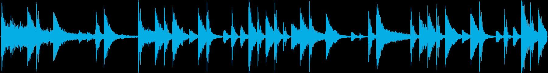 ロックのドラムをイメージした楽曲です。の再生済みの波形
