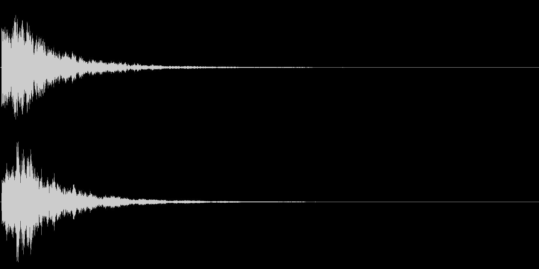 ゲームスタート、決定、ボタン音-091の未再生の波形