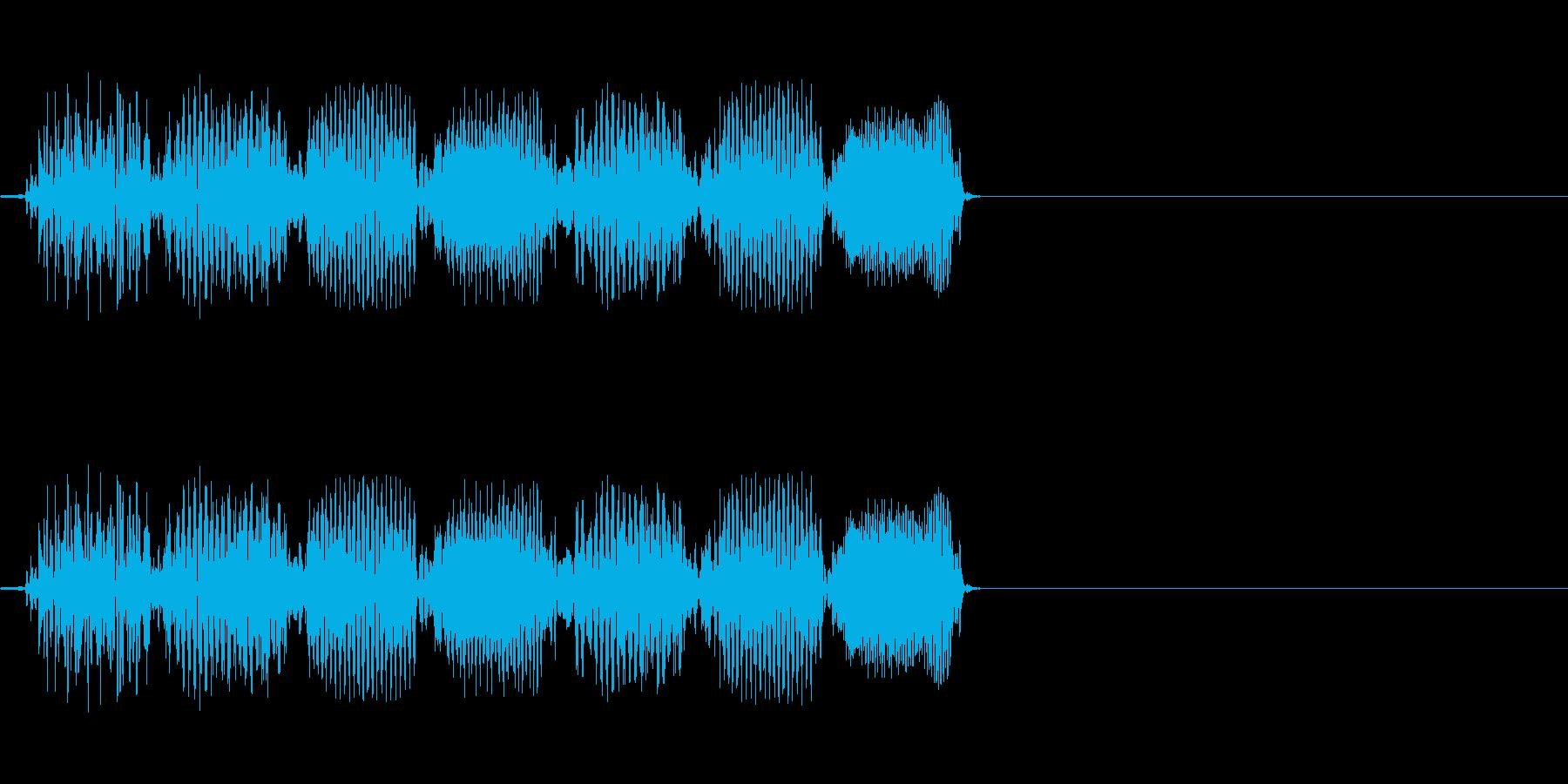 不思議 上昇 電子音の再生済みの波形