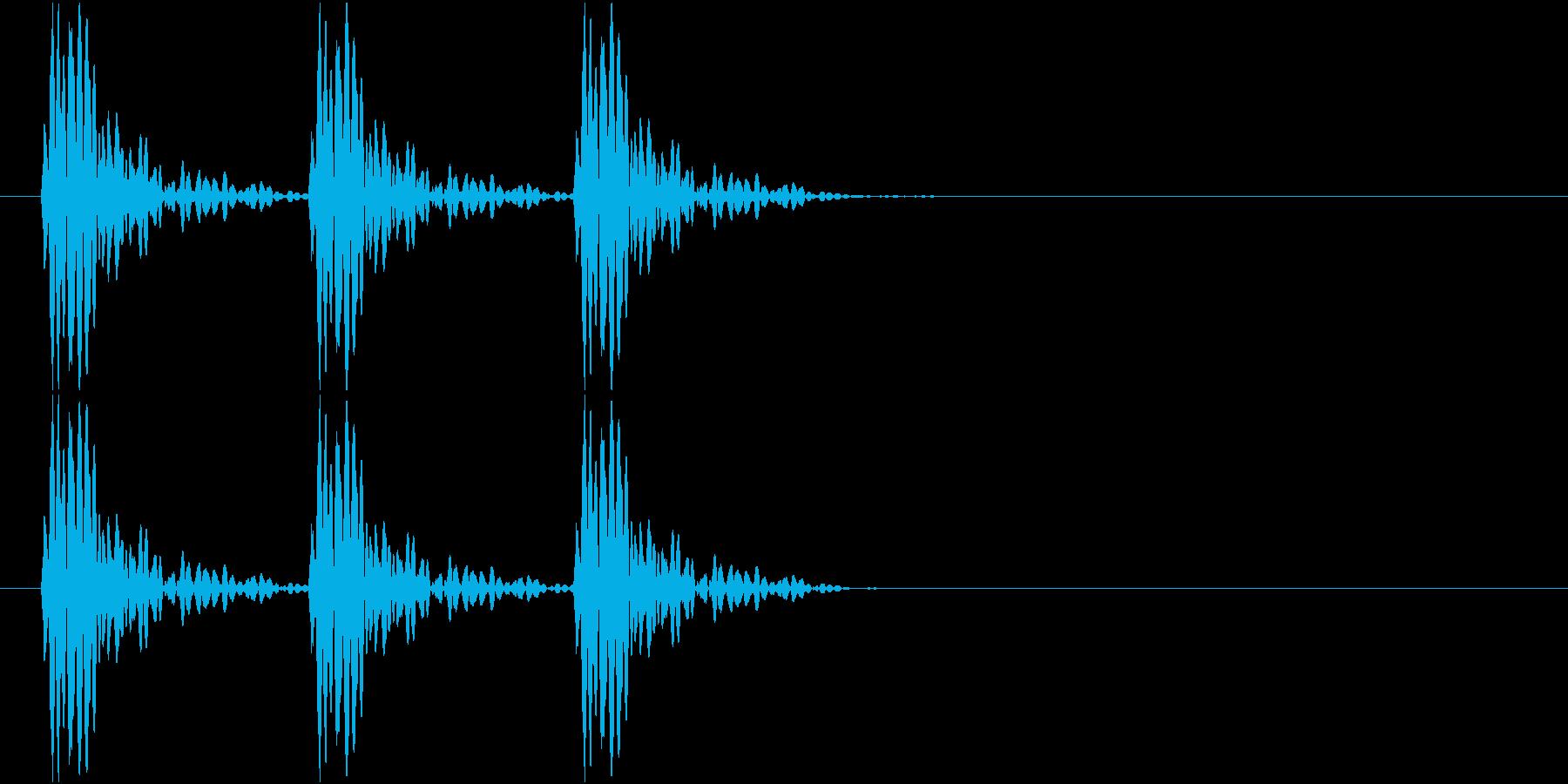 ドンドンドン(ノック音、叩く、早い)の再生済みの波形