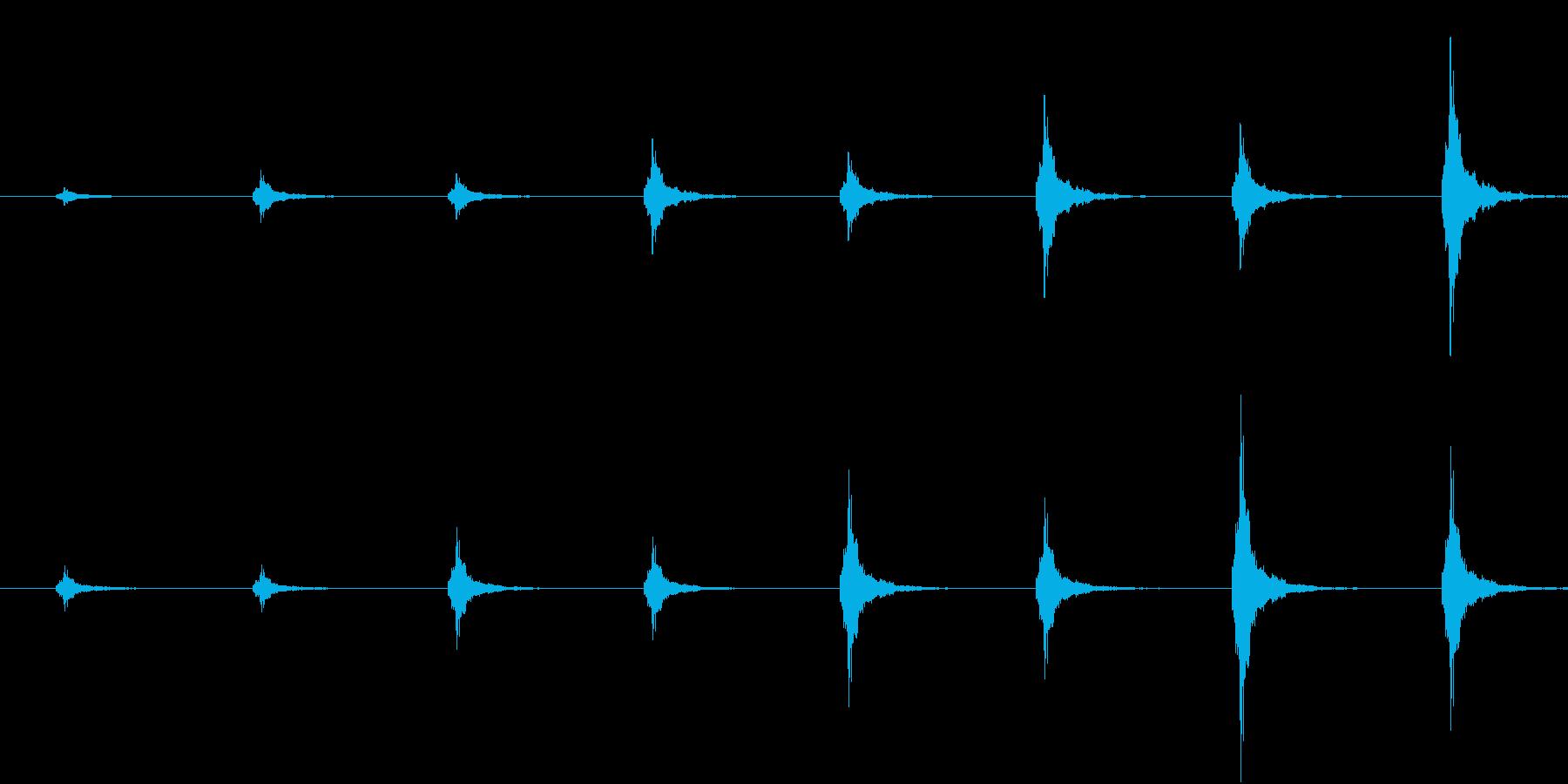 鈴の音が近づいてくる音(和風ホラー向け)の再生済みの波形