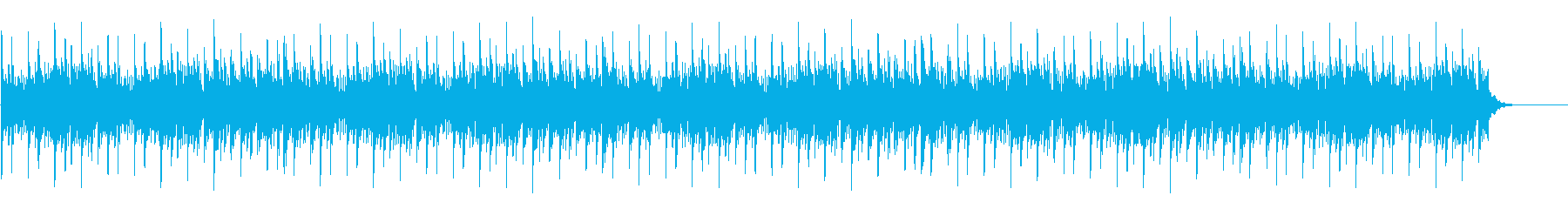 ドキュメンタリー系映像用BGM(WAV)の再生済みの波形