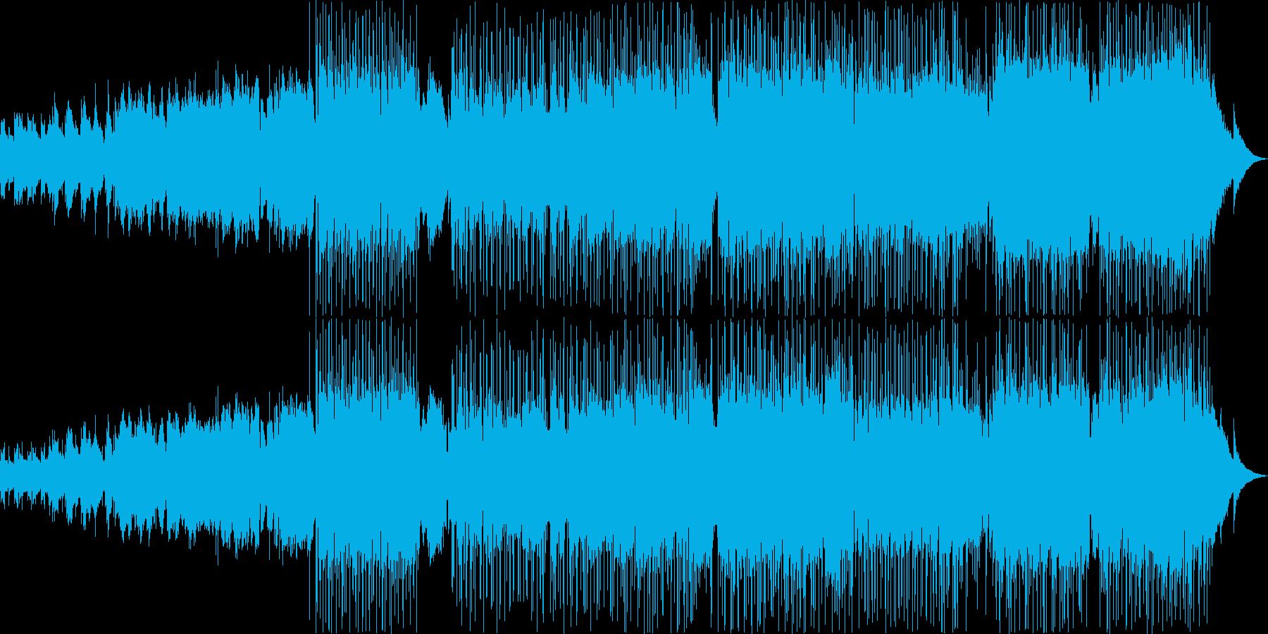 【女性Vo】ゆったりオシャレなバンド楽曲の再生済みの波形