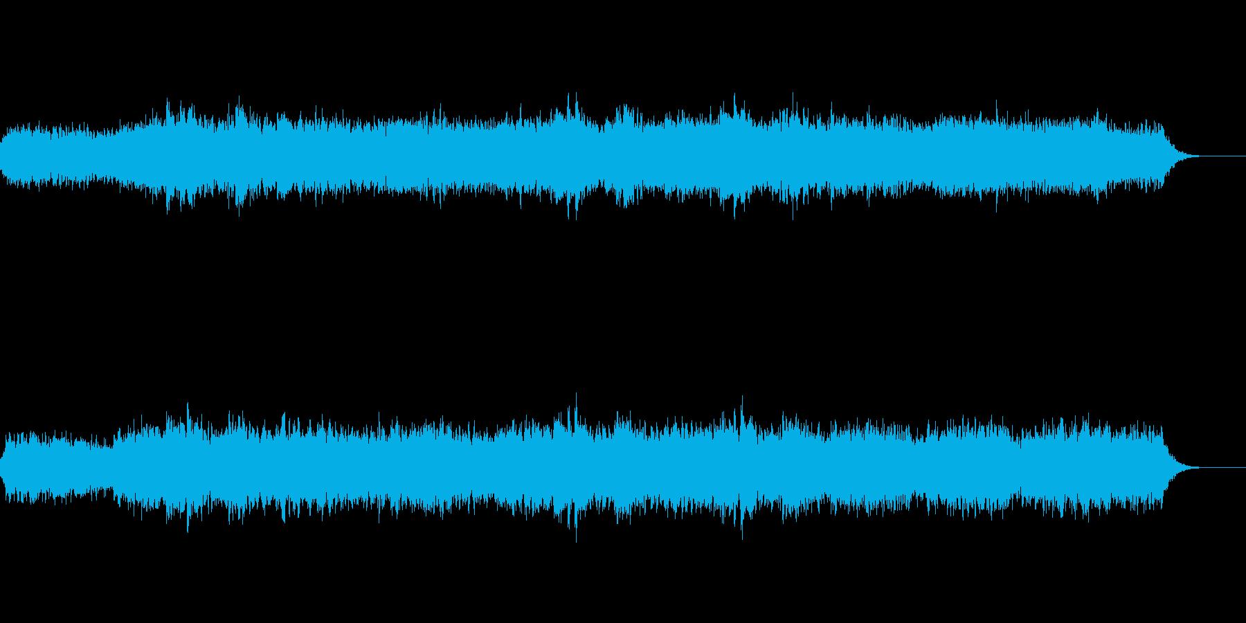 銀河のイメージの美しいシンセサイザー音楽の再生済みの波形