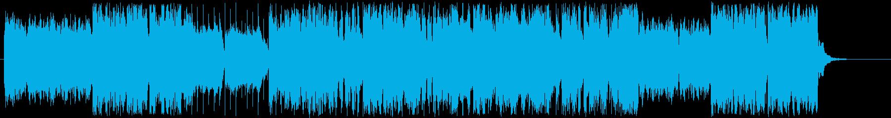 賑やかな民族音楽風の曲の再生済みの波形