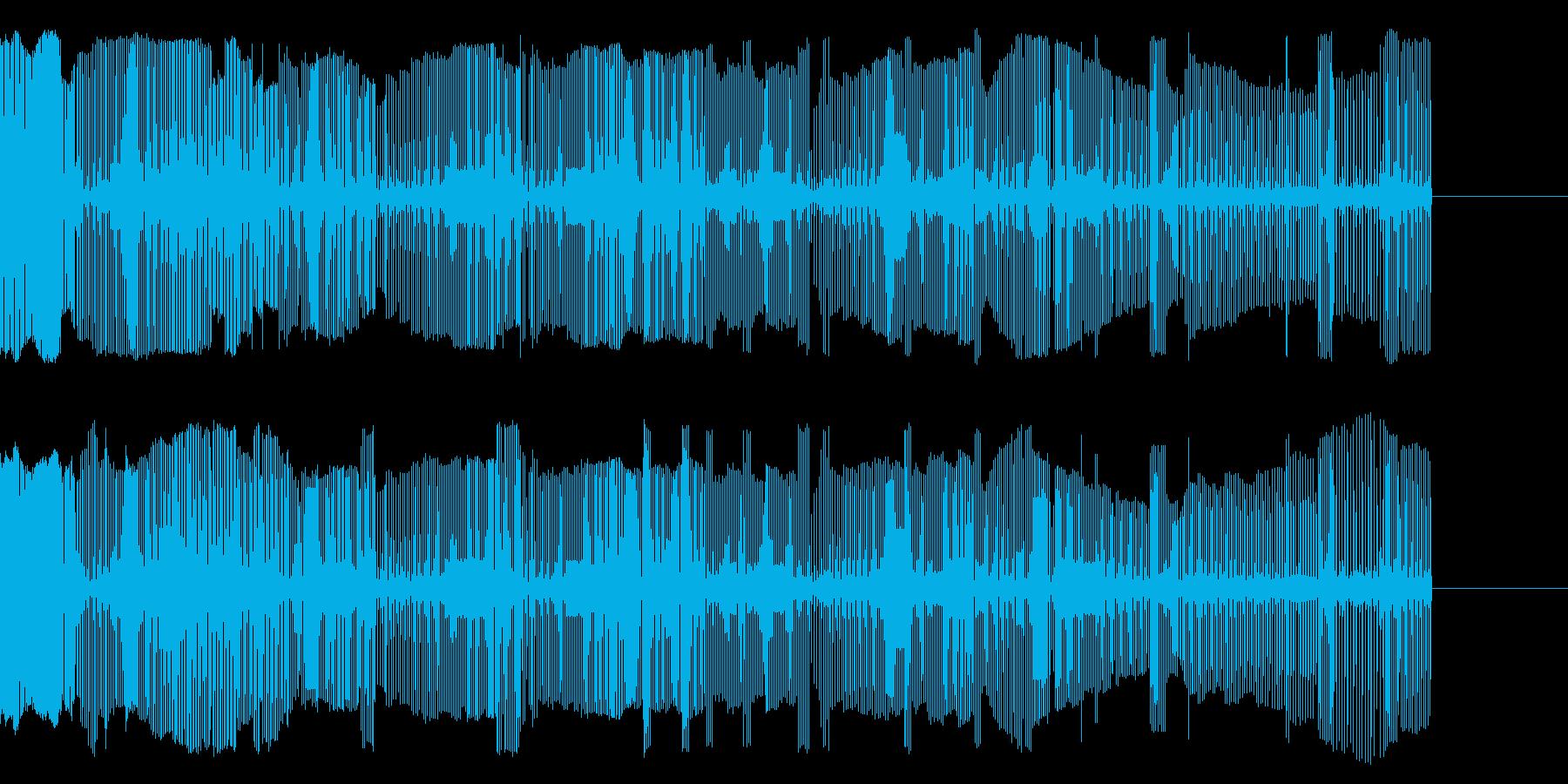 壊れかけの電子音の再生済みの波形