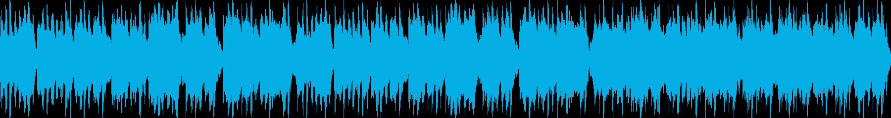 陽気な民族音楽風の曲 ループ可の再生済みの波形