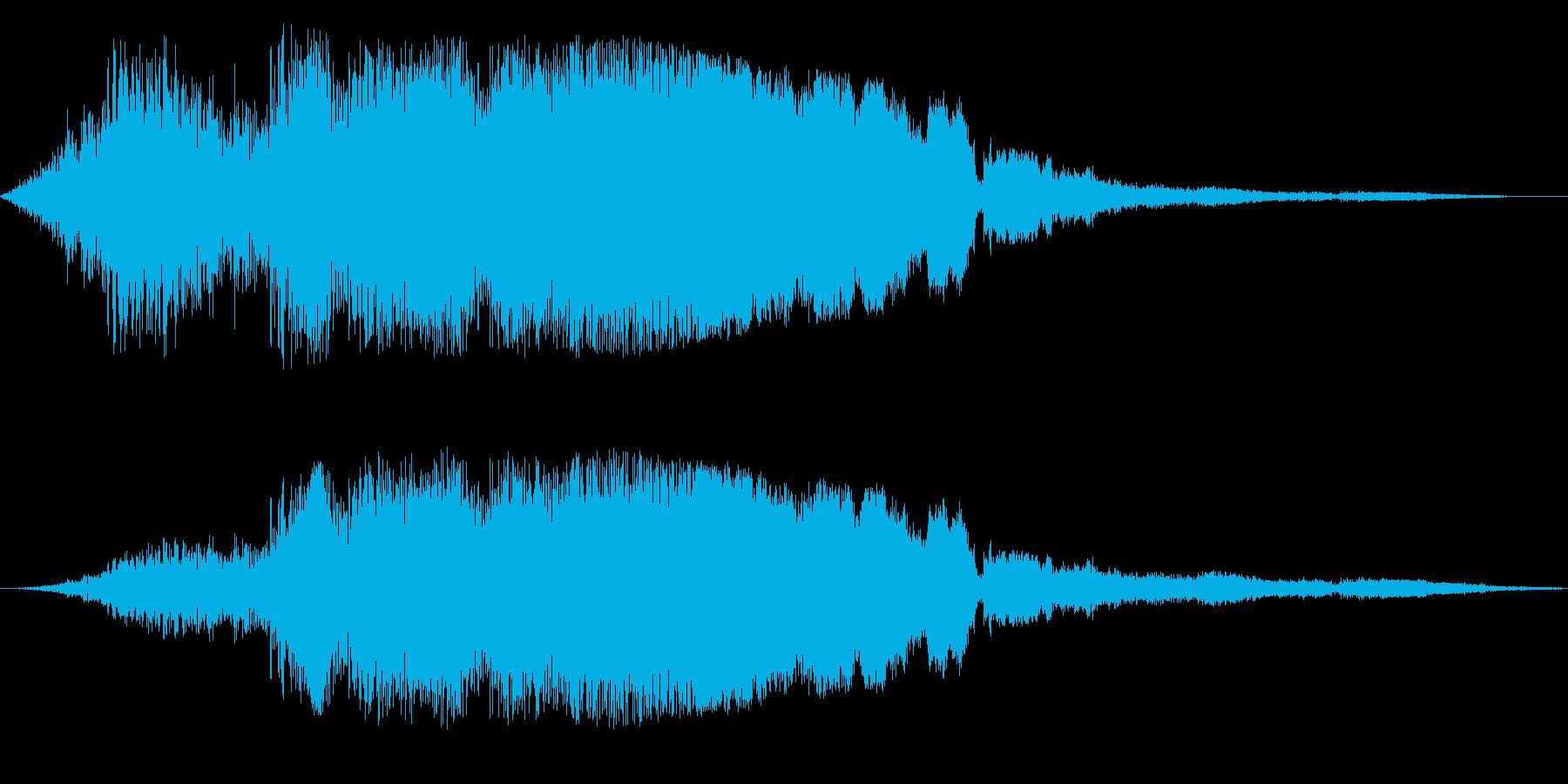 F1などのレース、エンジン音に最適33!の再生済みの波形