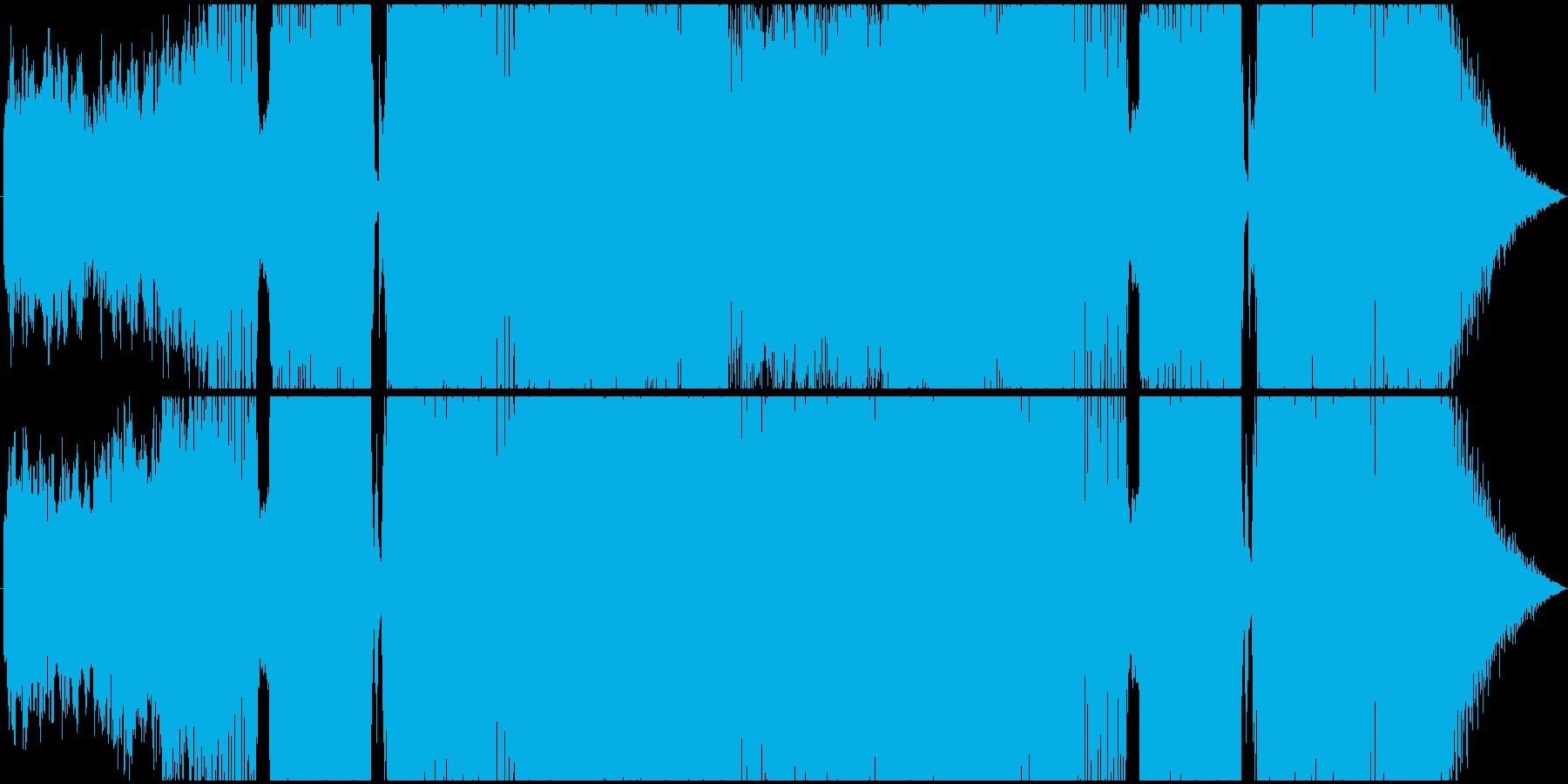 ファンタジー系RPGラストバトル用BGMの再生済みの波形