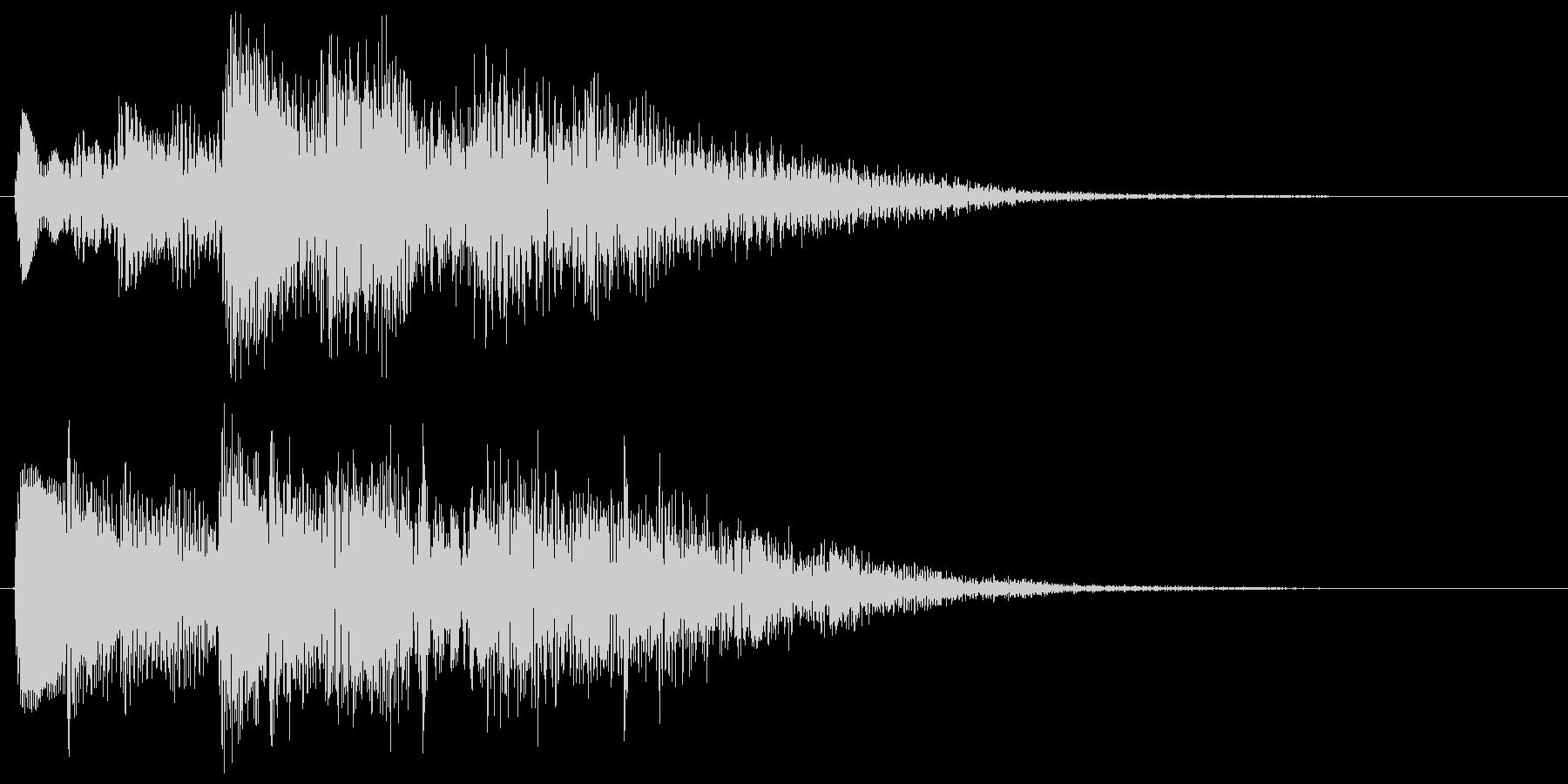 ハープのアルペジオ クリア 達成 成功の未再生の波形