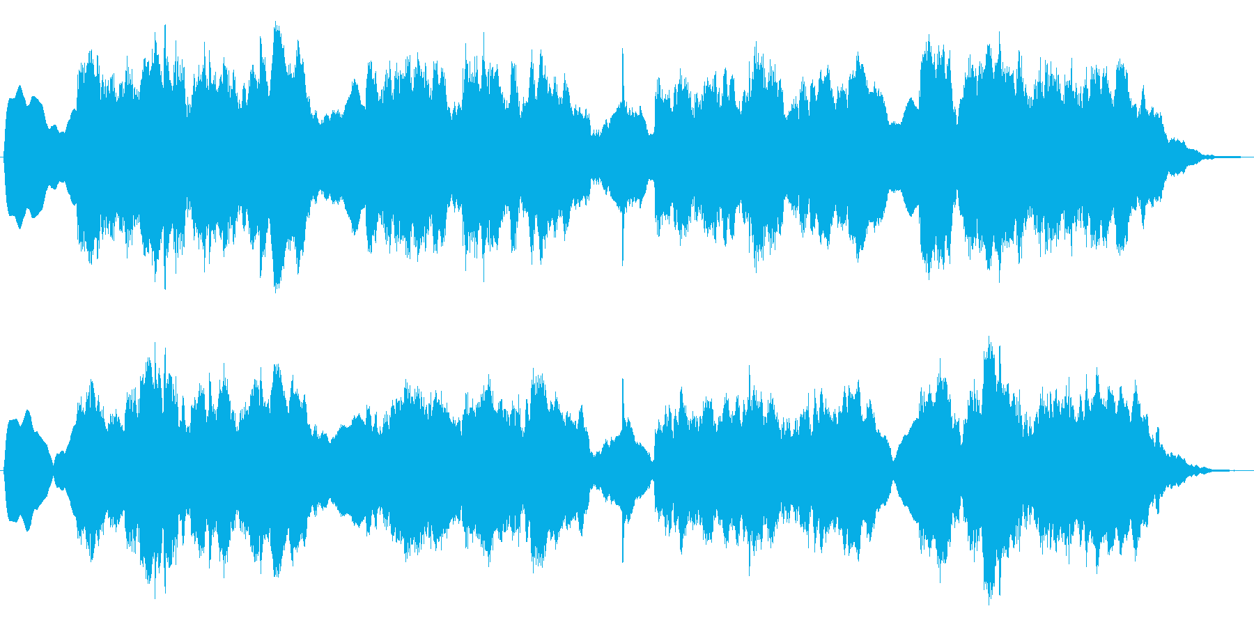 メルヘンの世界の夜のジングルの再生済みの波形