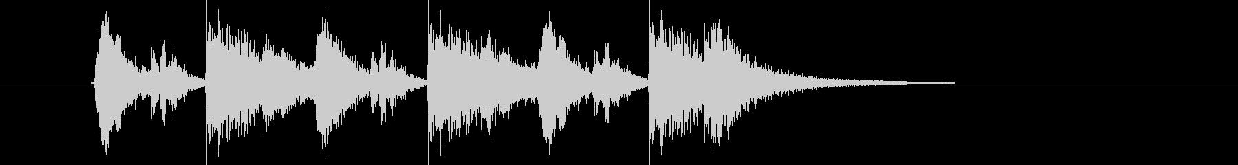 パーカッションがメインの短いジングルの未再生の波形