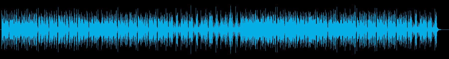 クールでミディアムテンポが特徴のポップスの再生済みの波形