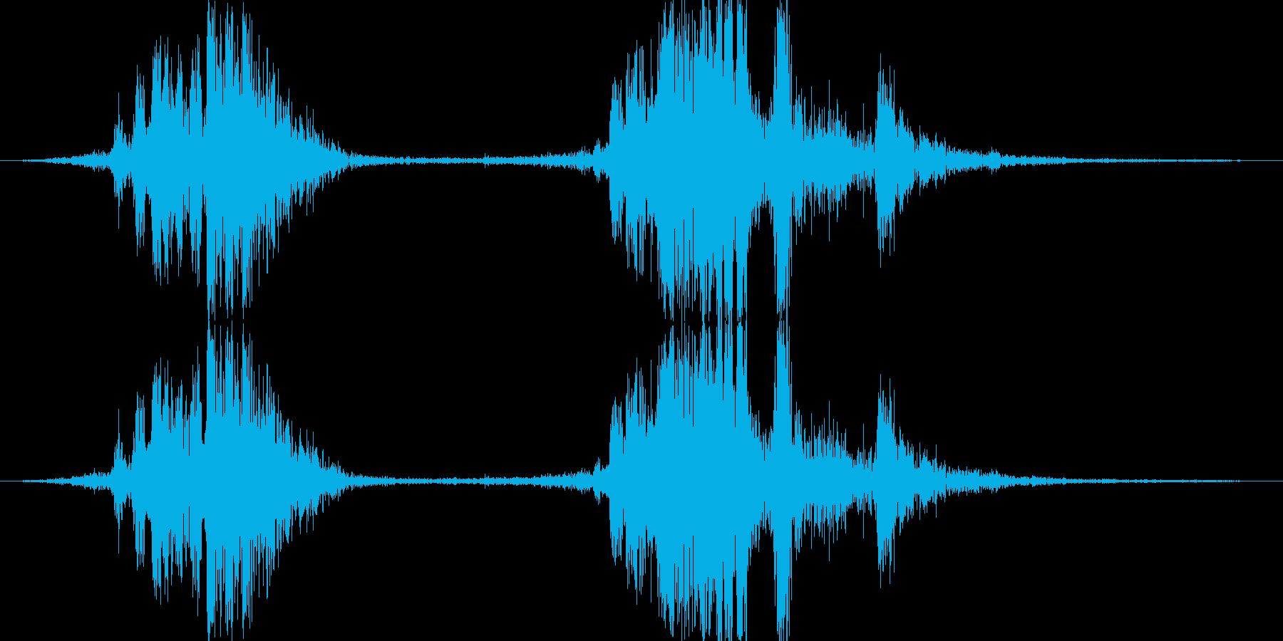 ショットガンやライフルのリロード音の再生済みの波形