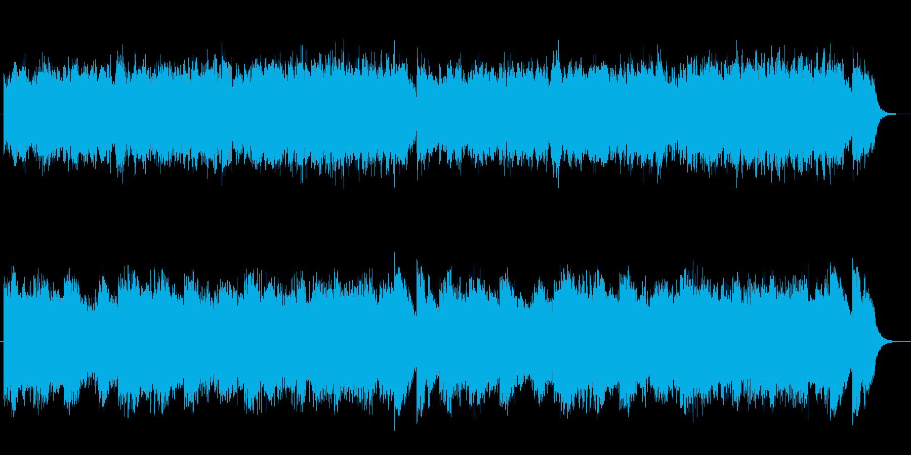 不気味な雰囲気のオーケストラの再生済みの波形