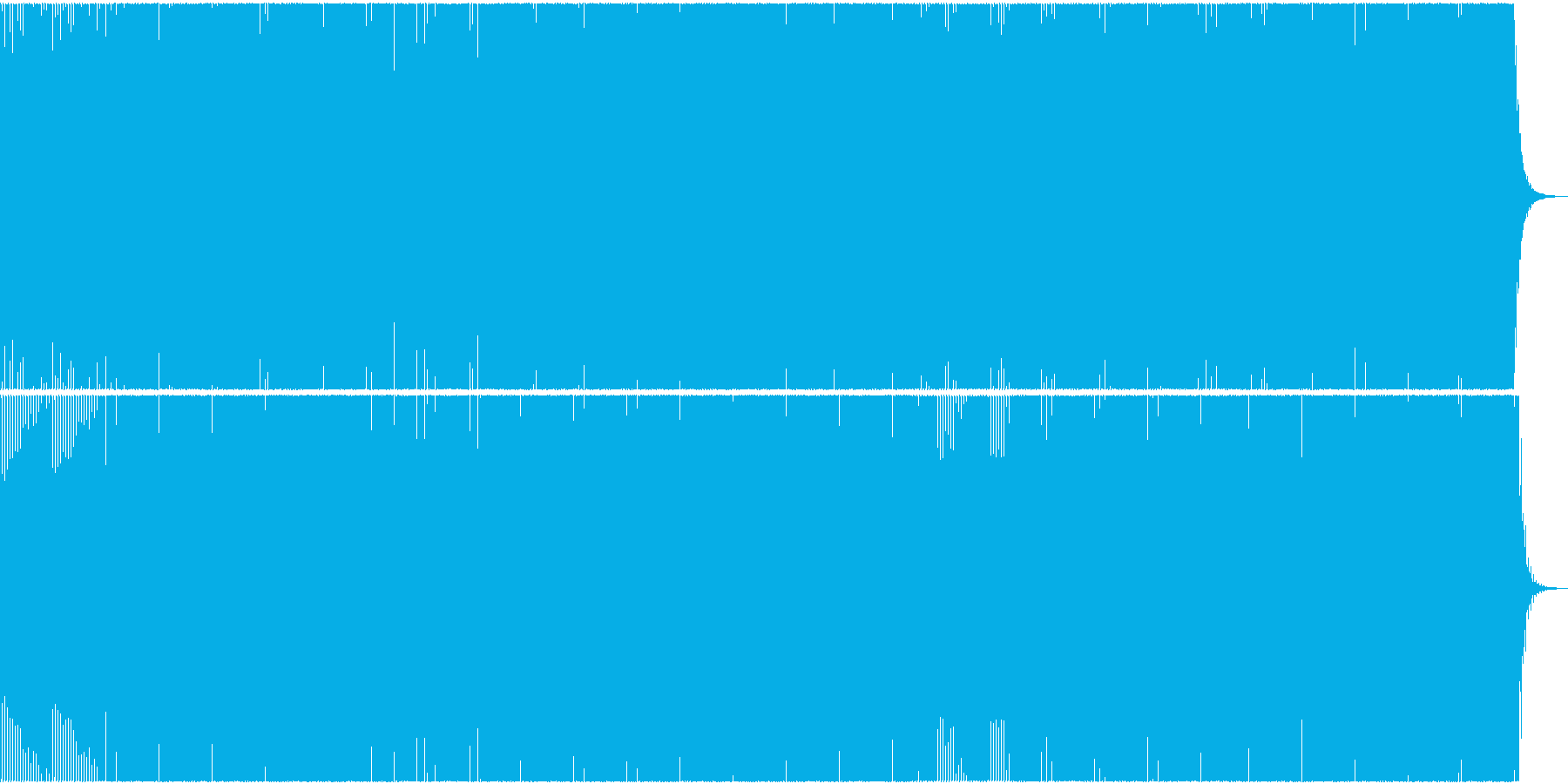 汎用性の高い現代風テクノの再生済みの波形