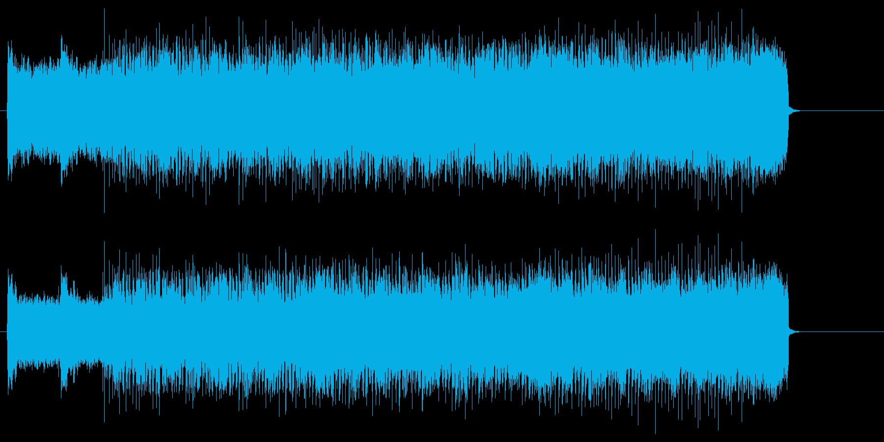 壮絶なバトルのエッジの効いたヘヴィロックの再生済みの波形