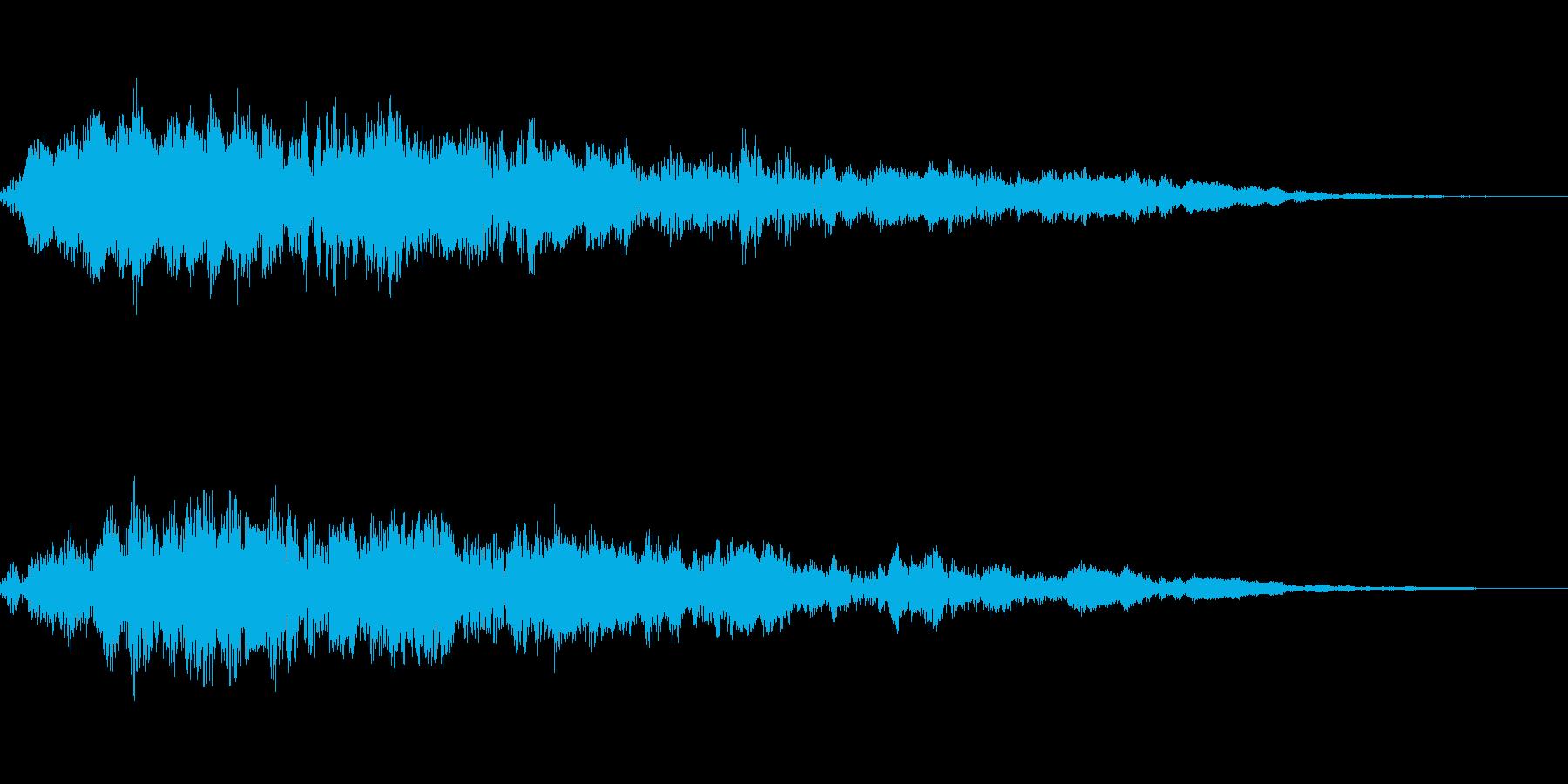 恐怖な回想シーンで使うフィードバック音の再生済みの波形
