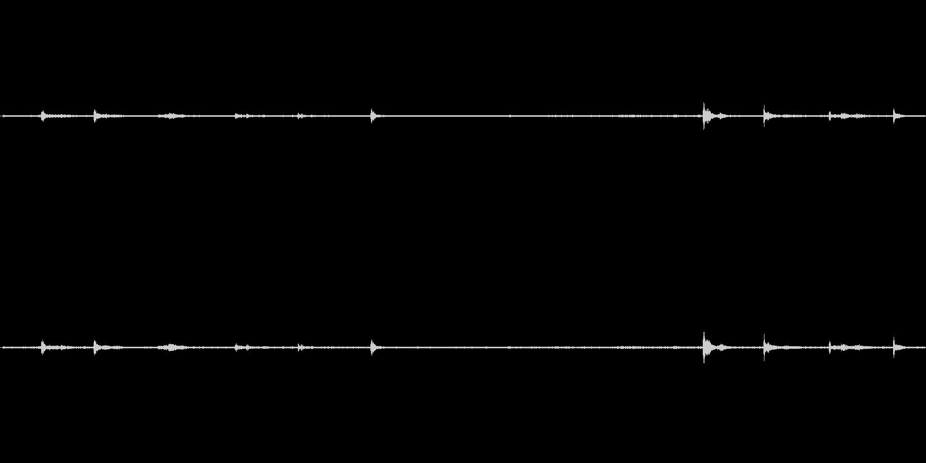 【生音】歩く・室内・スリッパ - 2 …の未再生の波形
