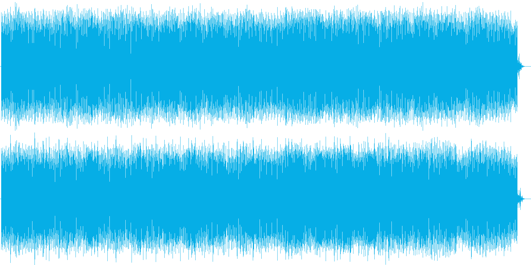お洒落で幻想的な雰囲気のポップスの再生済みの波形