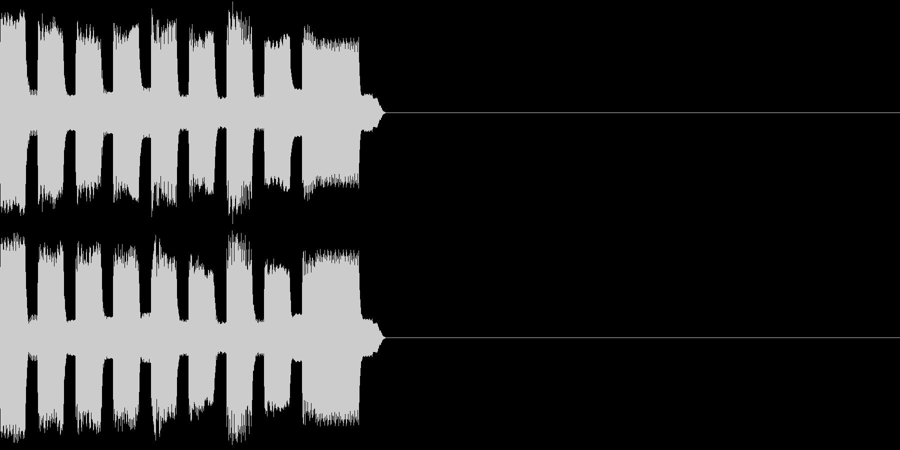 RetroGame 巨大化効果音の未再生の波形