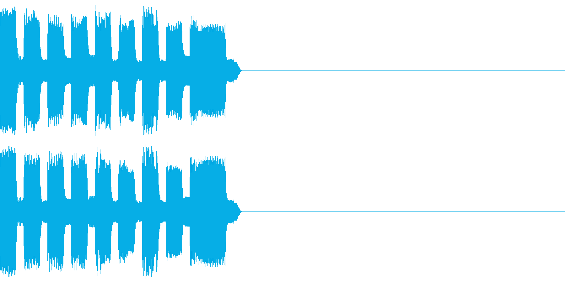 RetroGame 巨大化効果音の再生済みの波形