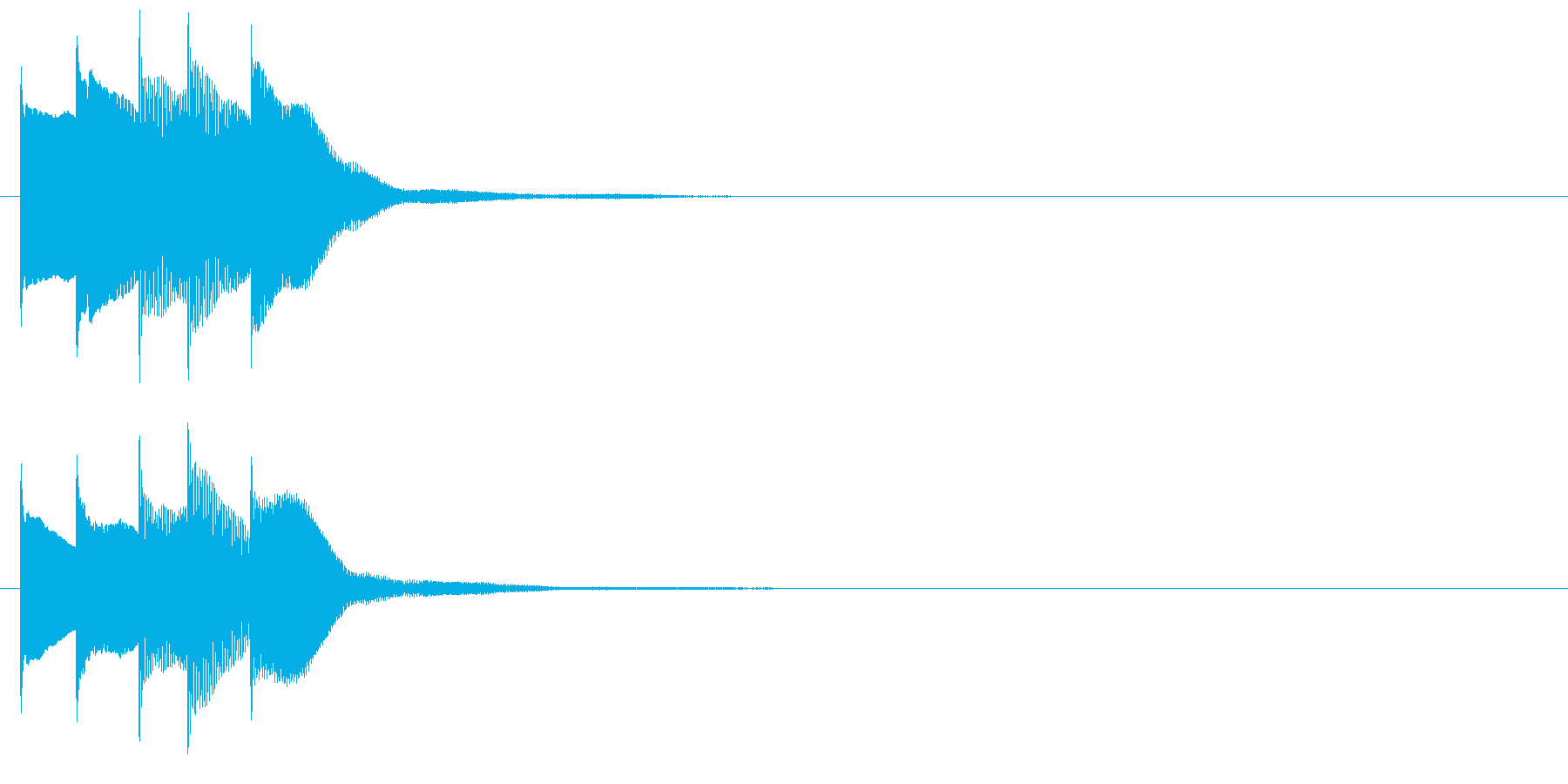 アラーム音08 マレット(maj)の再生済みの波形