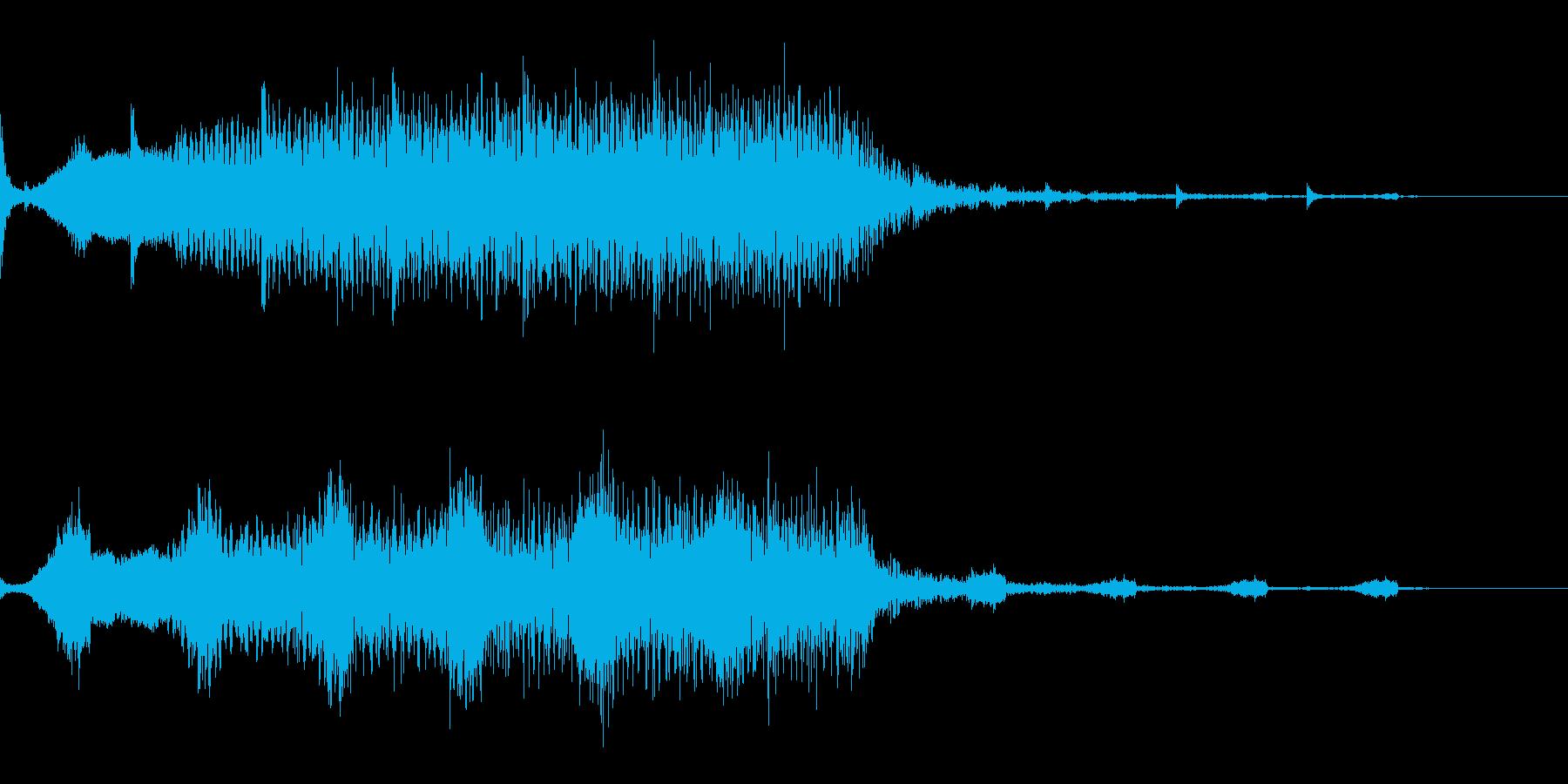 占う5 ホラー 不気味な音 ホワ〜ンの再生済みの波形