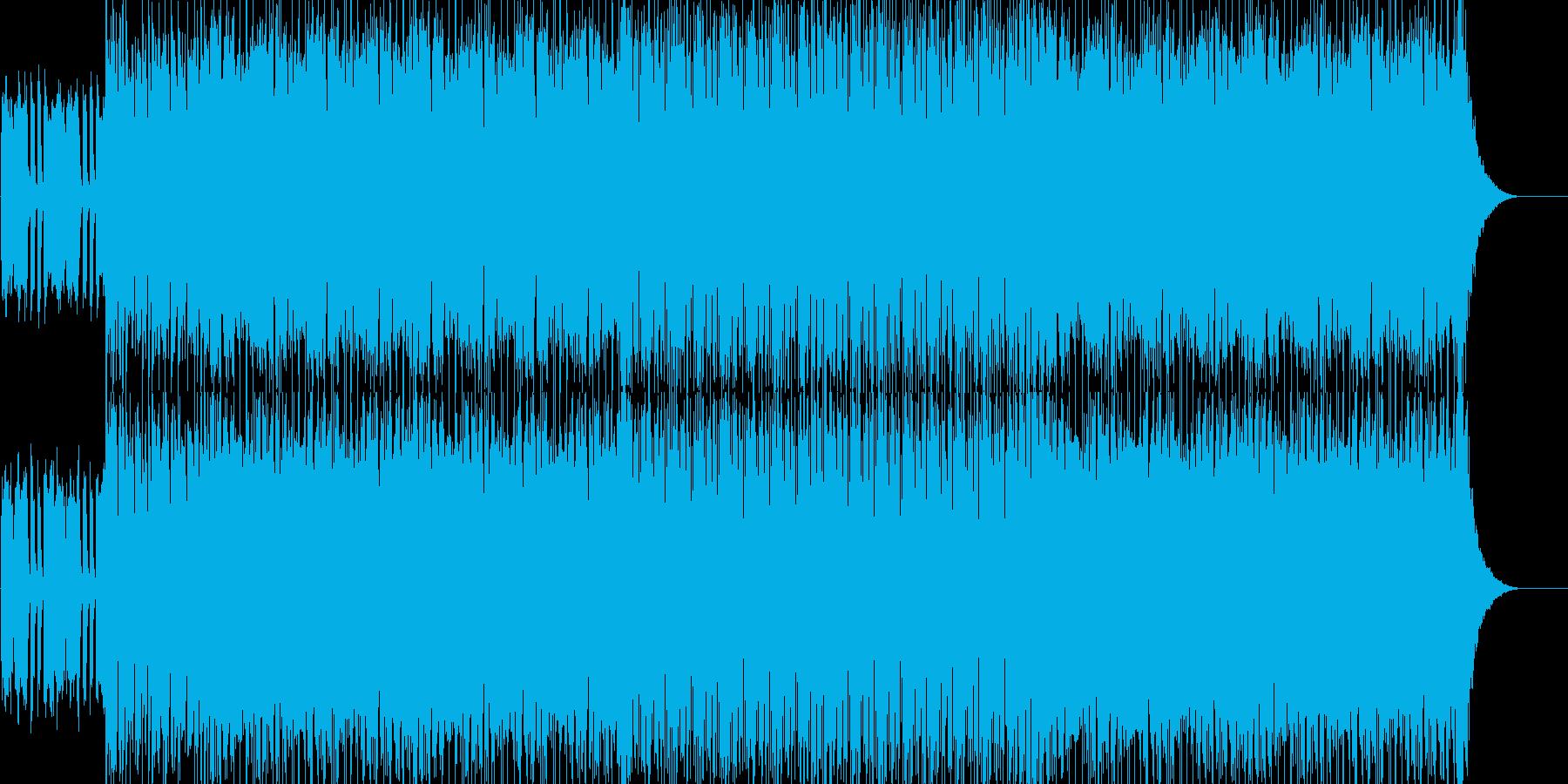 おしゃれなハウスの再生済みの波形