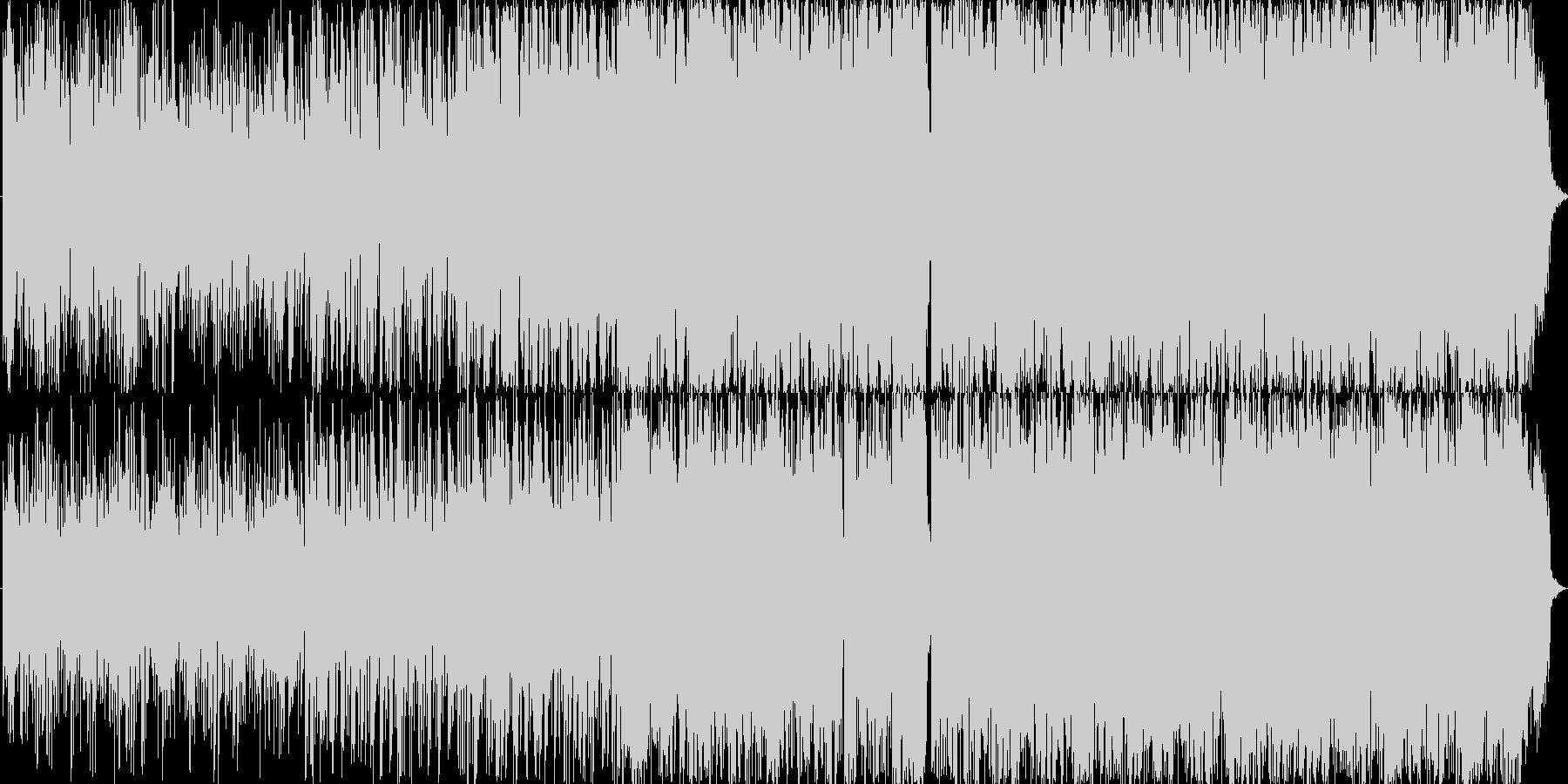 重たく迫力のあるサウンドの未再生の波形