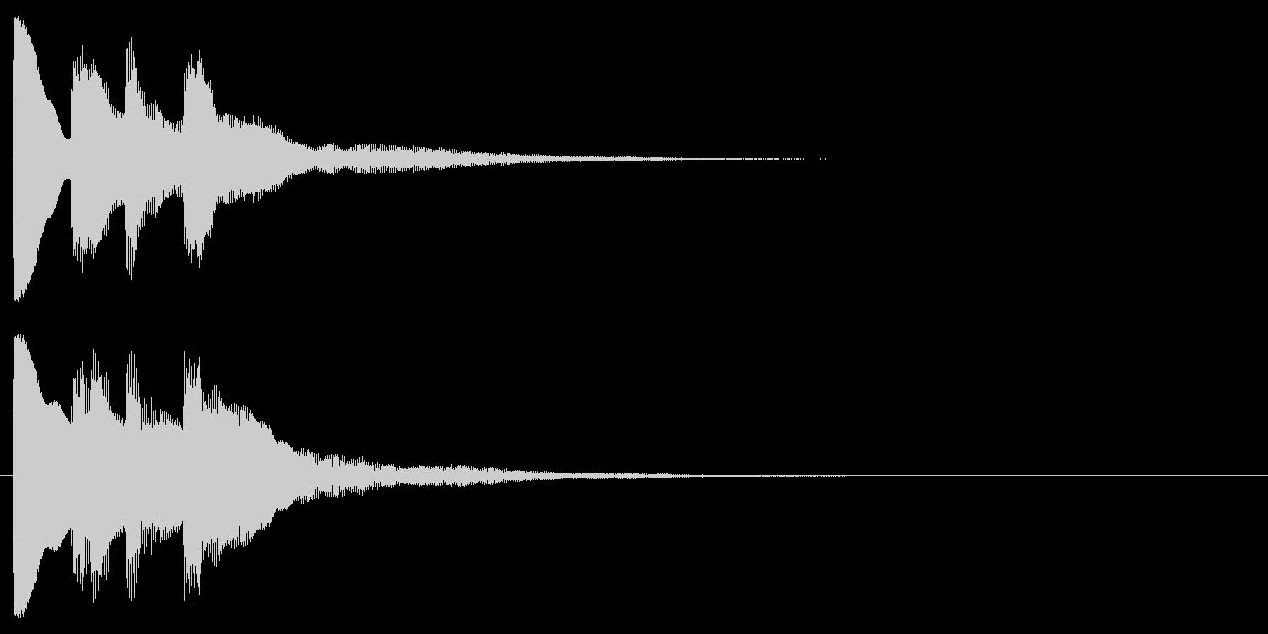 ピンポン(クイズ・正解・当たり)02の未再生の波形